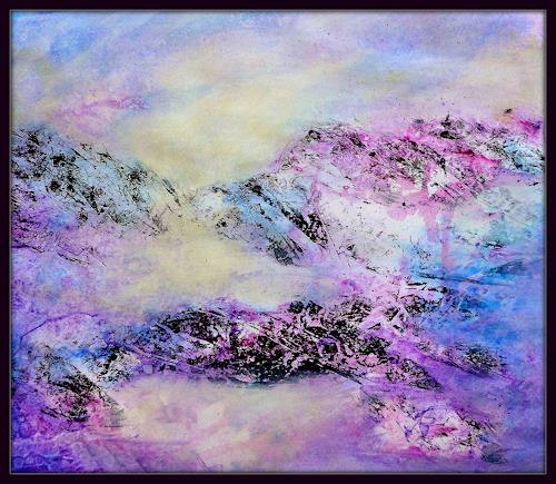 Gerda Lipski, o.T., Nature: Earth, Landscapes: Mountains, Expressionism