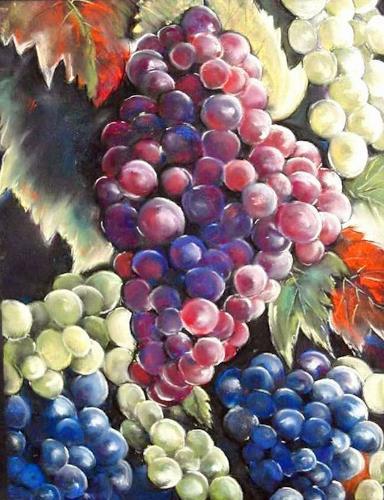Ute Kleist, Ein guter Jahrgang, Harvest, Plants: Fruits, Contemporary Art, Expressionism