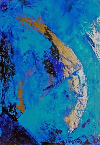 Ute Kleist, Und sie dreht sich doch!, Abstract art, Nature: Earth, Contemporary Art, Expressionism