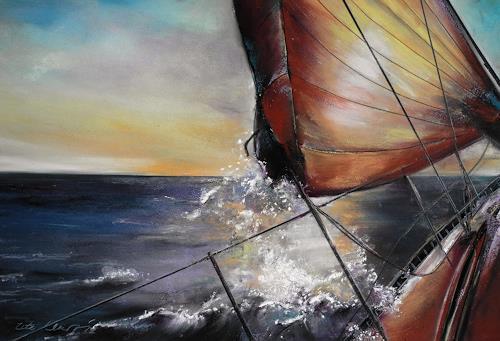 Ute Kleist, Sonnenfänger, Movement, Romantic motifs: Sunset, Contemporary Art, Expressionism