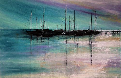 Ute Kleist, keine Lust aufzustehn, Nature: Water, Situations, Contemporary Art, Expressionism