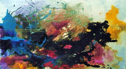 Ute Kleist, Farben eines Sommers, Abstract art, Times: Summer, Contemporary Art