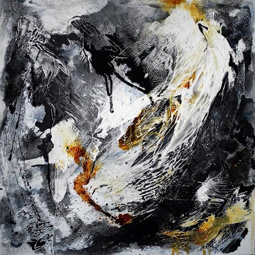 Ute Kleist, The nest that sailed the sky - frei interpretiert nach Peter Gabriel, Poetry, Music, Contemporary Art, Abstract Expressionism