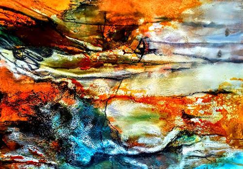 Ute Kleist, Schimmel in der Bügelfalte, Landscapes, Emotions, Expressionism