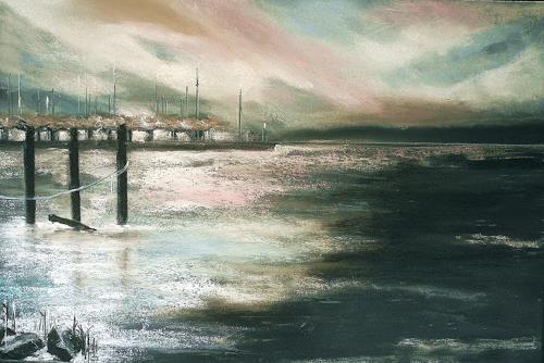 Ute Kleist, Der See erwacht, Poetry, Landscapes: Sea/Ocean, Romanticism, Expressionism