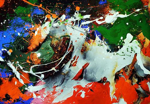 Ute Kleist, Riders on the storm, Emotions, Movement, Expressionism