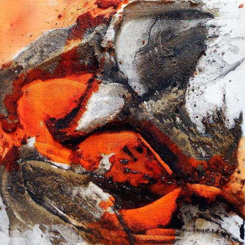 Ute Kleist, Unter nacktem Fels I, Abstract art, Nature, Expressionism