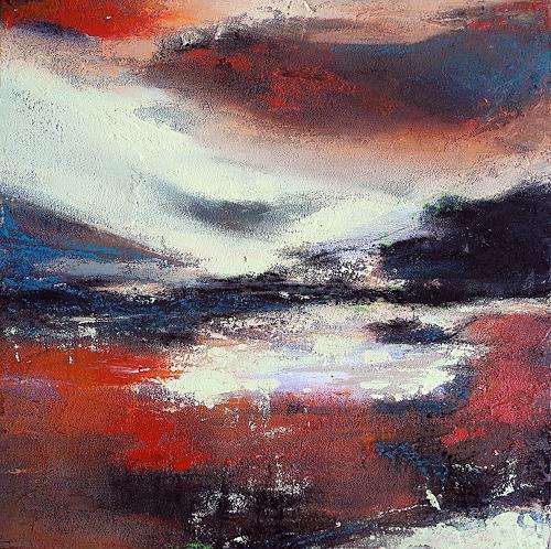 Ute Kleist, still und unberührt, Landscapes, Romantic motifs, Expressionism