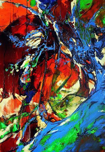 Ute Kleist, Träumen unterm Lieblingsbaum II, Abstract art, Emotions, Expressionism, Abstract Expressionism