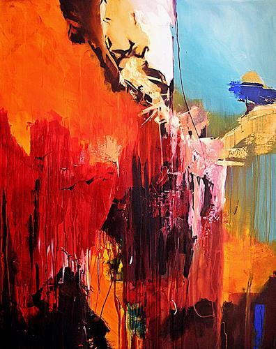 Ute Kleist, Die Kunst des Loslassens II, Abstract art, Belief, Expressionism, Abstract Expressionism