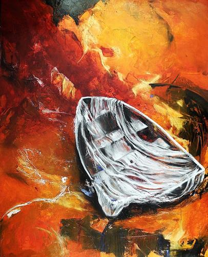 Ute Kleist, Und der Wind trägt uns davon, Abstract art, Movement, Expressionism