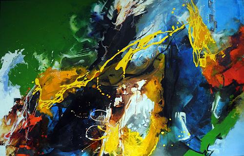 Ute Kleist, following a bird, Movement, Poetry, Neo-Expressionism