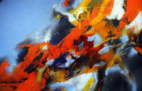 Ute Kleist, EINS ins ANDERE, Belief, Nature: Air, Abstract Expressionism