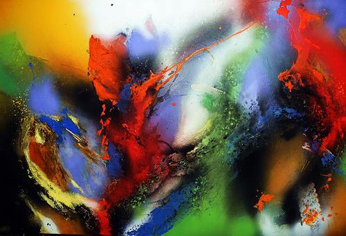 Ute Kleist, Durchreise, Movement, Emotions, Abstract Expressionism, Expressionism