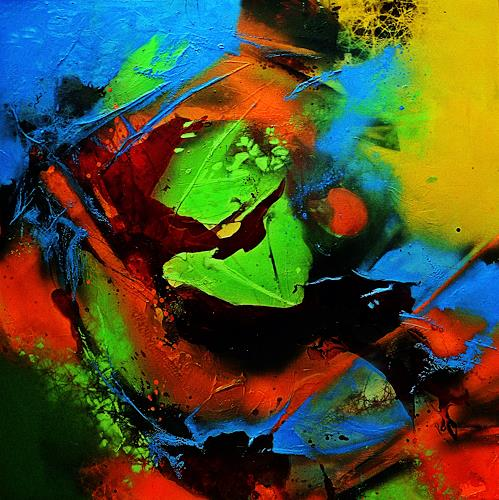 Ute Kleist, LEBEN II, Abstract art, Emotions: Love, Expressionism, Abstract Expressionism