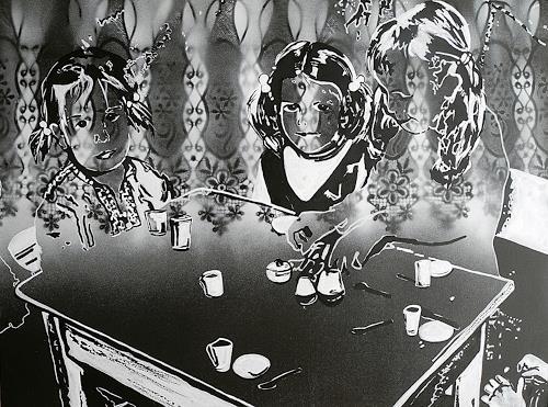 Ute Kleist, Puppengeschirr, People: Children, Emotions: Love, Contemporary Art, Expressionism