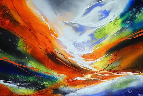 Ute Kleist, Dem Fluss folgen, Abstract art, Emotions, Expressionism