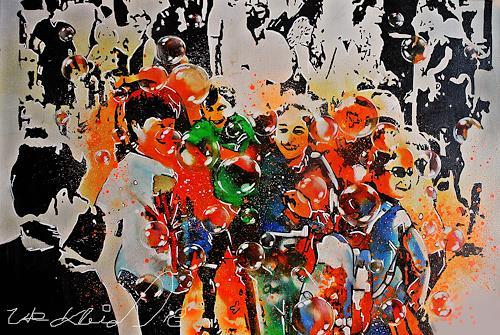 Ute Kleist, DAS LACHEN UNSERER KINDER, People: Children, Emotions, Expressionism, Abstract Expressionism