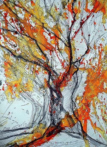 Ute Kleist, Mettnauschöne, Nature, Emotions, Expressionism
