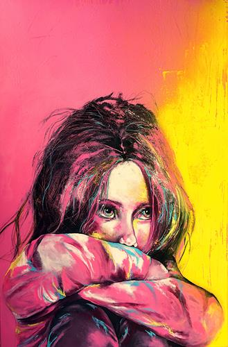 Ute Kleist, MIT OFFENEN AUGEN, People, Emotions, Expressive Realism, Expressionism