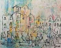 Kunstmuellerei-Landscapes-Summer-Landscapes-Sea-Ocean-Modern-Age-Expressionism