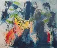 Kunstmuellerei-People-Women-People-Group-Modern-Age-Expressionism-Neo-Expressionism