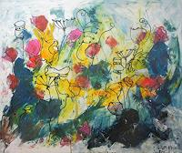 Kunstmuellerei-Plants-Flowers-Nature-Earth-Modern-Age-Expressionism-Abstract-Expressionism
