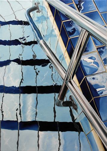 Alex Krull, o.T. (Eingang), Nature: Water, Sports, Realism, Expressionism