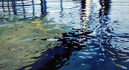 Alex Krull, o.T. (gruenblau), Sports, Nature: Water, Realism, Expressionism