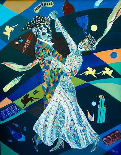 Ulla Wobst, VENETIAN  WALTZ, Movement, Parties/Celebrations, Symbolism, Expressionism
