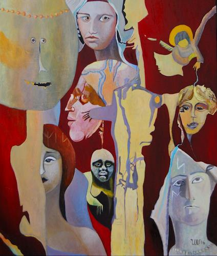 Ulla Wobst, The Infinite Entanglement Of Cultures, Society, Miscellaneous, Symbolism, Abstract Expressionism