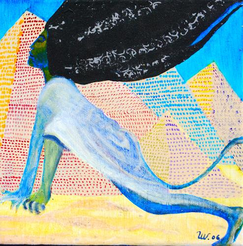 Ulla Wobst, BIRTH OF THE SPHINX, Mythology, Miscellaneous, Symbolism, Abstract Expressionism