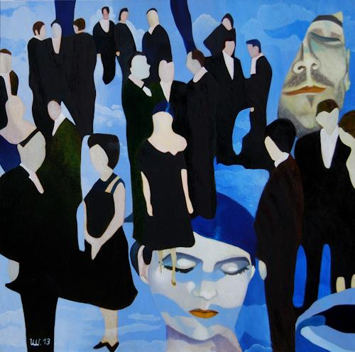Ulla Wobst, BLaue Stunde / Blue Hour, Poetry, Miscellaneous Emotions, New Figurative Art