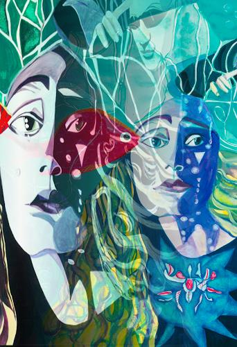 Ulla Wobst, UNDINE, Fairy tales, Symbol, New Figurative Art, Abstract Expressionism