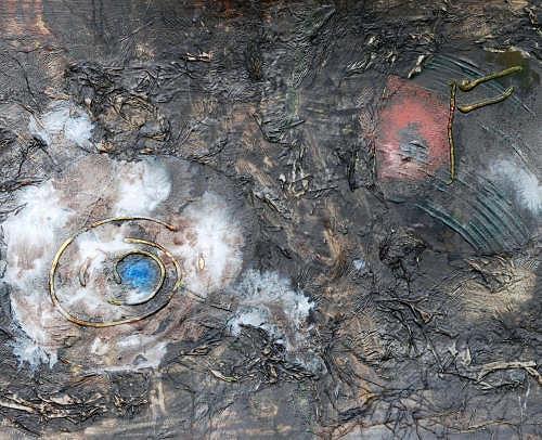 gawaju, Bildausschnitt aus Fremde welten 1, Abstract art, Mythology, Contemporary Art, Abstract Expressionism