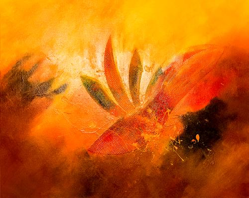 Ingrid TROLP, Strelizia - Paradiesvogelblume, Abstract art, Plants: Flowers, Contemporary Art