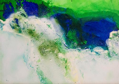 Ingrid TROLP, blue world, Abstract art, Nature: Water, Contemporary Art, Expressionism