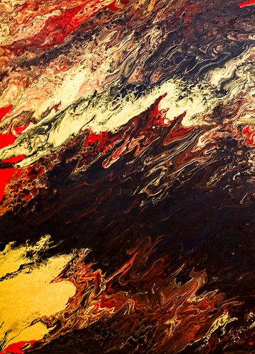 Ingrid TROLP, Inferno - der letzte Tag, Abstract art, Nature: Fire, Contemporary Art, Abstract Expressionism