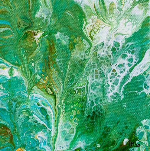 Ingrid TROLP, grün, Abstract art, Decorative Art, Contemporary Art
