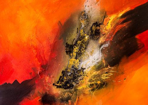 Ingrid TROLP, Aus dem Tal der Dunkelheit, Abstract art, Miscellaneous, Contemporary Art, Abstract Expressionism