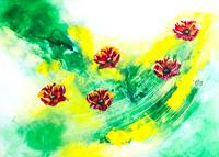 Ingrid-TROLP-Abstract-art-Plants-Flowers-Contemporary-Art-Contemporary-Art