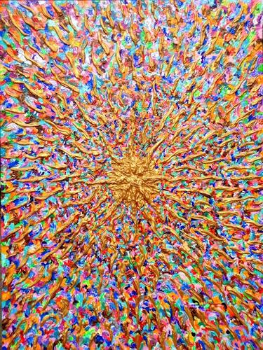 Ralf Hasse, Spirituelle Energie / Mut zur Farbe, Decorative Art, Abstract art, Action Painting