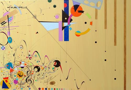 Ralf Hasse, Suprematism Pausenbrot 2 spielerisch Farbenfroh, Abstract art, Deconstructivism