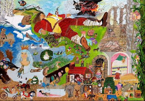 Ralf Hasse, Märchenbild, Fairy tales, Decorative Art, Modern Age