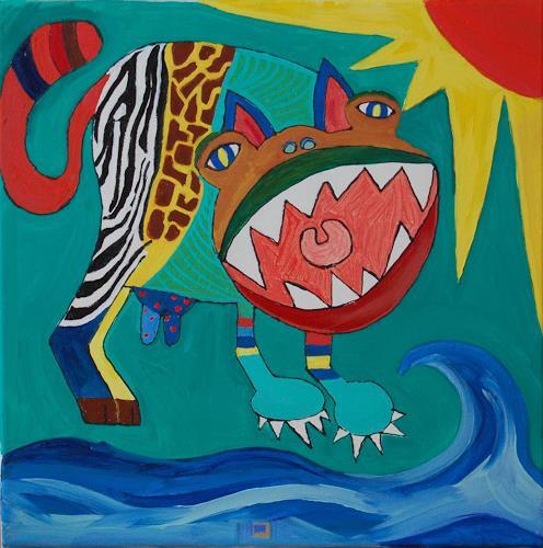 Katharina Orlowska, I love animals, Fantasy, Abstract Expressionism