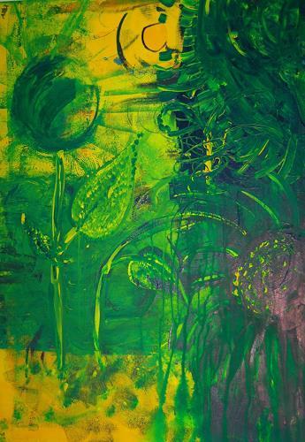 Katharina Orlowska, sonnenblumen und ein warmer sommerregen, Plants: Flowers