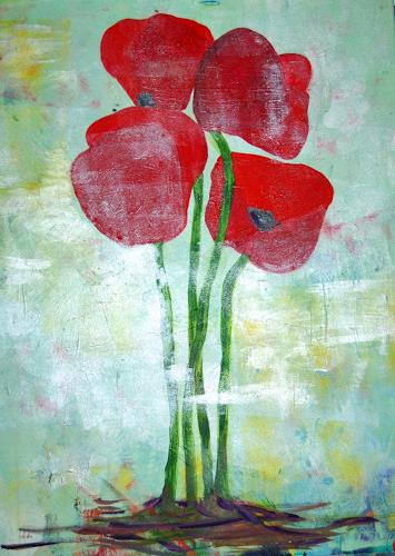 Katharina Orlowska, Mohnblumen (groß), Plants: Flowers