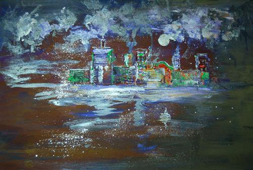Katharina Orlowska, night in the city, Miscellaneous Buildings