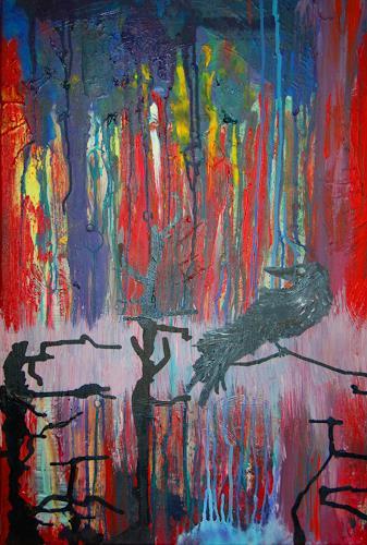 Katharina Orlowska, Freiheit ist Einsamkeit, Animals: Air, Nature: Wood