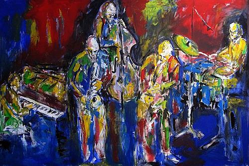 René, jazzquintet, Music: Concerts, Music: Musicians, Abstract Expressionism